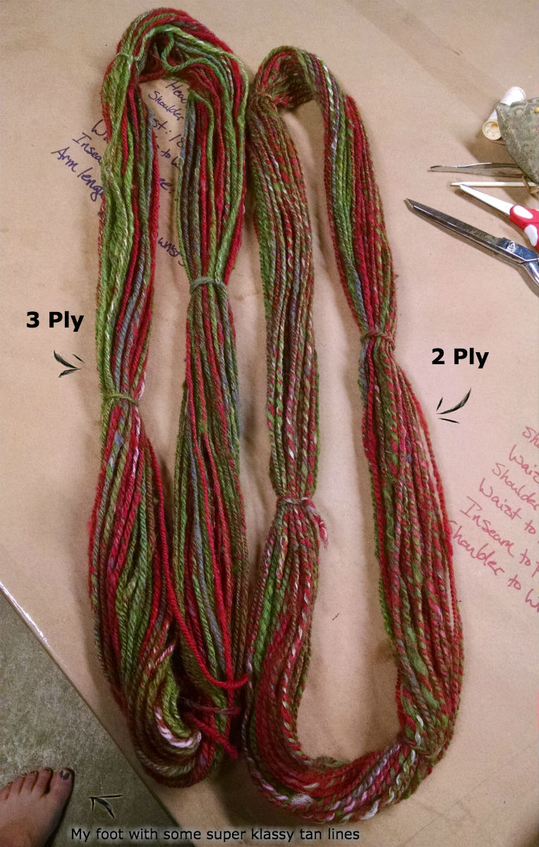 test skeins